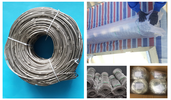 stainless steel cable mesh packing